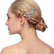 VANKOKO Vintage Rhinestones Hair Side Comb for Bridal Wedding Hair Accessories