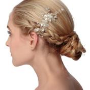 VANKOKO Pearl Crystal Bridal Hair Side Comb Wedding Hair Accessories Headpiece