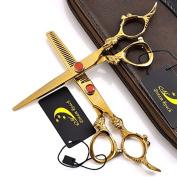 15cm Professional Dragon Handle 440C Barber Hair Cutting Shear - Salon Hair Thinning Scissor for Hair Stylist- by Dream Reach
