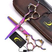 15cm Professional Dragon Handle Hair Cutting Shear - Salon Hair Thinning Scissor for Barber - by Dream Reach