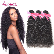 Lin Hair Brazilian Kinky Curly 3 Bundles Virgin Deep Curly Human Hair Weave Extensions Natural Colour Can Be Dayed