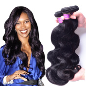 AliBarbara Peruvian Human Hair Body Wave 4 Bundles 100% 8A Unprocessed Virgin Human Hair Extensions Natural Black Colour Mixed Length
