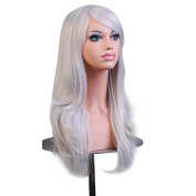 Cosplay Wig Silver Grey Long Hair Anime Costume Party Wigs 70cm Full Head Synthetic Wavy Halloween Wigs for Women