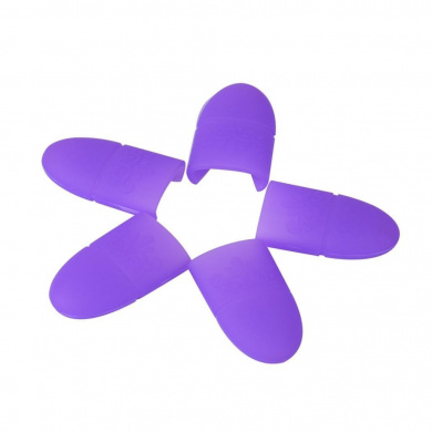 Misaky 10PCS Silica gel Nail Soak Off UV Gel Art Polish Remover Wrap Cap (Purple)