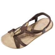 . Women Sandals,Canserin Women's 2017 Summer Bohemia Sweet Beaded Sandals Clip Toe Sandals Beach Shoes (5.5 B