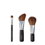 VEGAN LOVE Wet/Dry Shadow Angled Face Brush Trio, Flawless Face