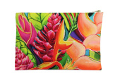 Hawaii Tropical Unique Hand Bag Clutch - Contemplation Flowers - Kauai - 32cm x 22cm - Hawaii art, island style, everything fits in
