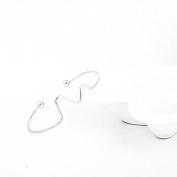 #1 Silver Fashion Women's Vintage Gold Silver Punk Cuff Bracelet Bangle Chain Wristband