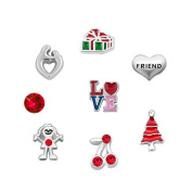 DemiJewelry Locket Charm Love Friend Floating Charms For Glass Living Memory Locket Necklace