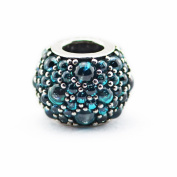 FASHICON 2016 Summer Green Teal Shimmer Droplet Bead Authentic 925 Sterling Silver DIY Fits for European Brand Bracelets Jewellery