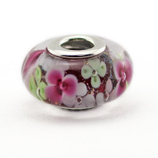 FASHICON 2016 Summer Fashion Flower Garden Murano Glass Bead Authentic 925 Sterling Silver DIY Fits for European Brand Bracelets Jewerlry