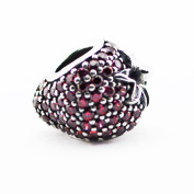 FASHICON 2016 Summer Pave Strawberry Charms With Cubic Zirconia Authentic 925 Sterling Silver Bead DIY Charm Jewellery