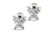 Earrings for Men Zircon Butterfly Mens Stud Earring 4mm
