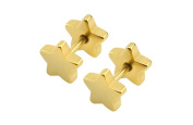 Earrings for Men Gold Star Boy Mens Stud Earring 8mm