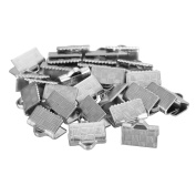 VALYRIA 30pcs Silver Tone Stainless Steel Clasp for Necklace and Bracelet for Jewellery Making Findings 10mmx7.5mm