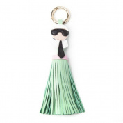 ur PU Leather Character Doll Tassel Pendant Bag car Fashion keychain SSD LightGreen