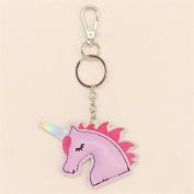 Cute Women Girl Unicorn PU Leather Keyring Keychain Bag Pendant Accessories Gift