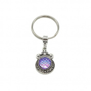 Natural opal Key ring stone mermaid charm cute keychain for women bag accessory NL02