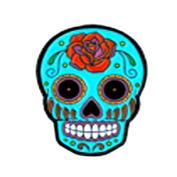Sunny Buick Rose Sugar Skull, Licenced Original Artwork, Expertly Designed ENAMEL PIN - 3.2cm