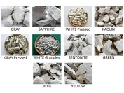 Set of samples edible natural CLAY chunks for eating, 10 species