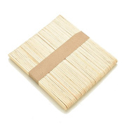 SQingYu Pack of 50 pcs Wooden Popsicle Sticks Jumbo, Kids DIy Crafts Cream Making Sticks Toy,Primary Colour