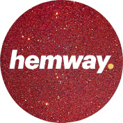 Hemway Red Premium Glitter Multi Purpose Dust Powder 100g / 100ml for use with Arts & Crafts Wine Glass Decoration Weddings Cards Flowers Cosmetic Face Eye Body Nails Skin Hair
