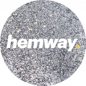 Hemway Silver Premium Glitter Multi Purpose Dust Powder 100g / 100ml for use with Arts & Crafts Wine Glass Decoration Weddings Cards Flowers Cosmetic Face Eye Body Nails Skin Hair
