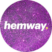 Hemway Dark Rose Premium Glitter Multi Purpose Dust Powder 100g / 100ml for use with Arts & Crafts Wine Glass Decoration Weddings Cards Flowers Cosmetic Face Eye Body Nails Skin Hair
