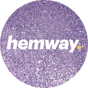 Hemway Lavender Premium Glitter Multi Purpose Dust Powder 100g / 100ml for use with Arts & Crafts Wine Glass Decoration Weddings Cards Flowers Cosmetic Face Eye Body Nails Skin Hair
