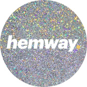 Hemway Silver Holographic Premium Glitter Multi Purpose Dust Powder 100g / 100ml for use with Arts & Crafts Wine Glass Decoration Weddings Cards Flowers Cosmetic Face Eye Body Nails Skin Hair