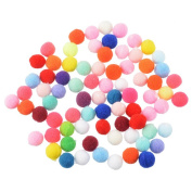 Corasays 1000 Pieces 1cm Soft Pom Poms for DIY Crafts Scrapbooking Wedding Decoration Accessories, Assorted Colours