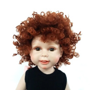Wigs Only! Heat Resistant Afro Tiny Curls Finished Wigs for 46cm Height American Girl Doll with 25cm - 28cm Head