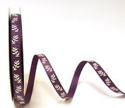 Bertie's Bows Ivory Fern Amythest 9mm Grosgrain Ribbon on a 25m Roll