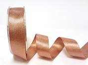 Rose Gold Sparkle Satin 25mm Ribbon by Bertie's Bows Ribbon on a 20m Roll