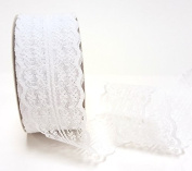 Bertie's Bows Vintage Style Scalloped Edge 45mm Bridal Lace Trimming on a 20m Roll