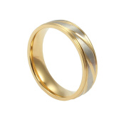 Onefeart Women Titanium Steel Ring Mens Wedding Band,Twill Design 4MM & 6MM Size J 1/2-Z 1/2 Silver Gold