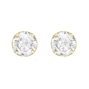 Carissima Gold Yellow Gold 6mm Round Cubic Zirconia Stud Earrings