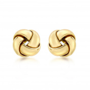 Carissima Gold Yellow Gold Knot Stud Earrings