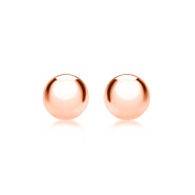 Carissima Gold Rose Gold 3mm Ball Stud Earrings