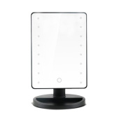 Brilliant future Large Screen LED Illuminated Makeup Mirror with Tray, 16 LEDs Lighted Shaving Tabletop Vanity Cosmetic Mirror for Bedroom or Bathroom Battery Operated(Black)