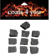 10 Standard Gas Fire Replacement Coals in A Box In Branded Coals 4 You Packing