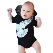 Baby Outfits Romper, TRENDINAO Newborn Toddler Kids Baby Boy Bird Print Hooded Outfits Clothes Set