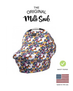"AS SEEN ON SHARK TANK The Original Milk Snob Infant Car Seat Cover and Nursing Cover Multi-Use 360° Coverage Breathable Stretchy ""Butterfly Garden"""