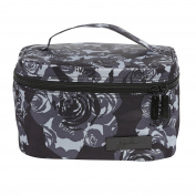 Ju-Ju-Be Onyx Collection Be Ready Zippered Makeup Case, Black Petals