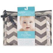 Baby Essentials 3 Piece Chevron Pouches