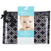 Baby Essentials 3 Piece Quatrefoil Pouches