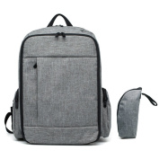Nappy Backpack, Degreeframture Baby Nappy Nappy Bags Backpack Large Capacity with Stroller Strap and Insulated Sleeve Extra Comfortable Grey Colour