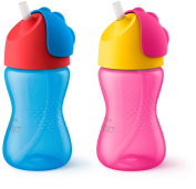 Philips AVENT My Bendy Straw Cup - Blue/Pink