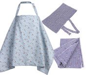 Privacy Breast Feeding Cover Adjustable Nursing Cover, Nursing Apron Nursing Cover Ups for Breastfeeding Baby in Public - Full Coverage, 100% Breathable Soft Cotton