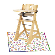 Keekaroo Height Right High Chair with Tray, Natural with Splat Mat